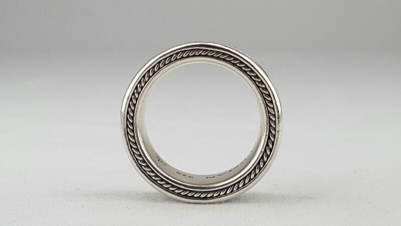 David Yurman Gent's Silver 11mm Wave Wedding Band 925 Silver 28.2g Size:11.75