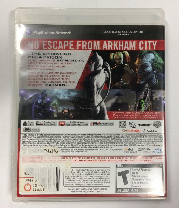 Batman: Arkham City (Sony PlayStation 3, 2011) damaged case