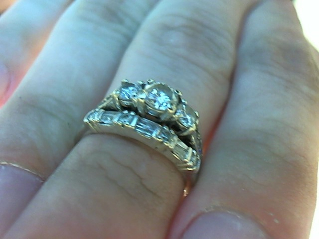 Lady's Diamond Wedding Set 19 Diamonds .94 Carat T.W. 10K White Gold 5.3g
