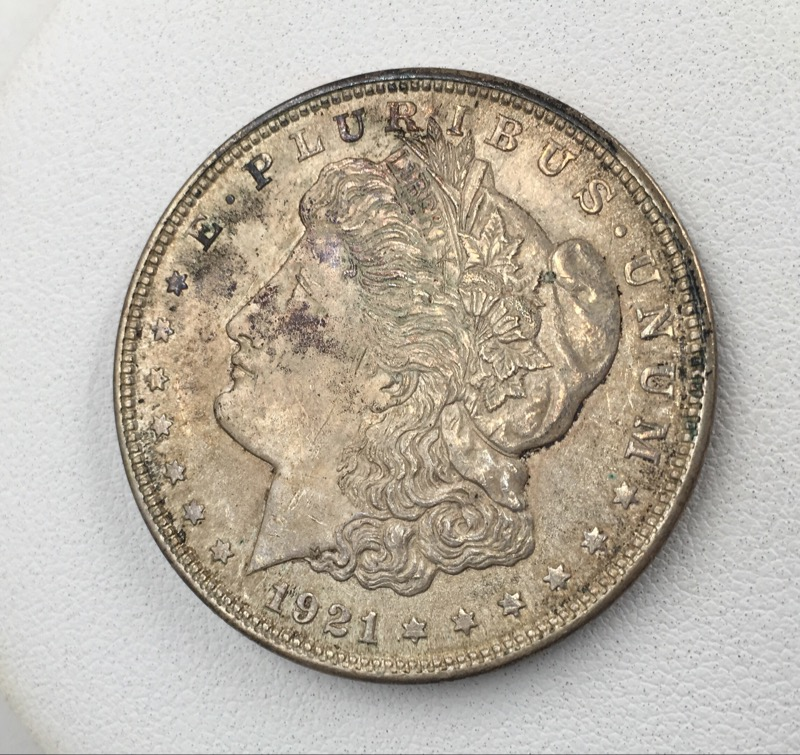 1921 Morgan Silver Dollar - United States $1 Coin - Nice Tone