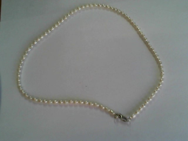 "PEARL NECKLACE 16"" OVAL APPROX 5X4MM FRASH WATER"