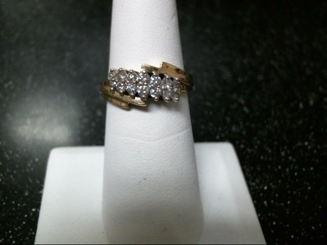 Lady's Diamond Cluster Ring 14 Diamonds .46 Carat T.W. 14K Yellow Gold 3.6g
