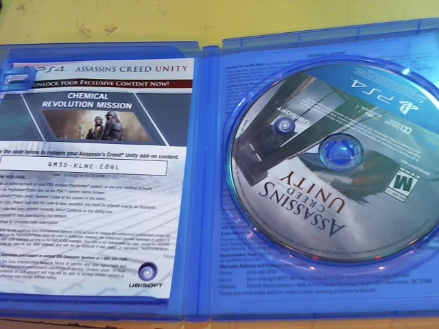 SONY Sony PlayStation 4 Game ASSASSIN'S CREED UNITY - PS4