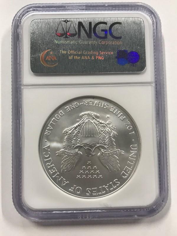 2007-W SILVER AMERICAN EAGLE DOLLAR $1