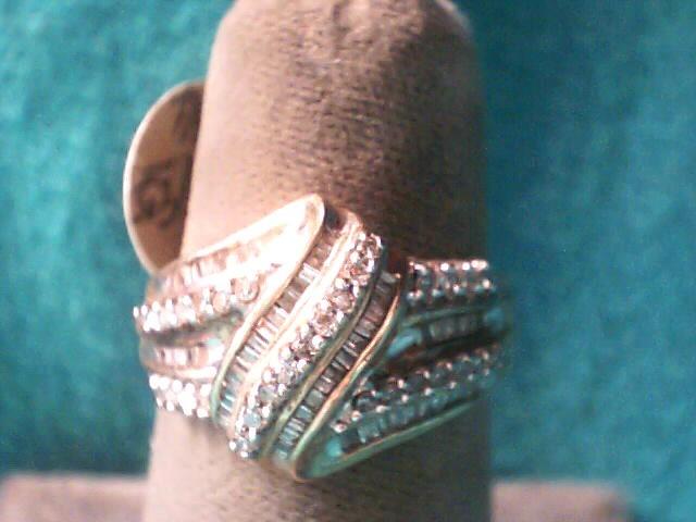 Lady's Diamond Fashion Ring 88 Diamonds .88 Carat T.W. 10K Yellow Gold 2.1dwt