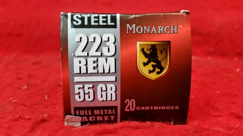 Monarch 223 Rem 55gr FMJ Steel Case Ammo