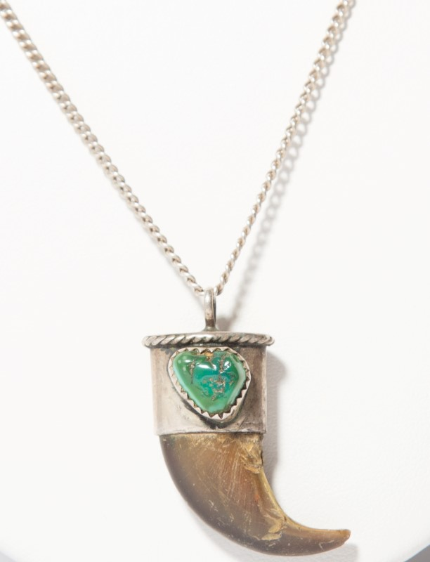 Turquoise Silver-Stone Pendant 925 Silver 10g