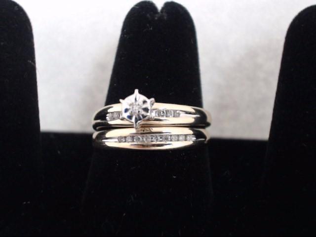 Lady's Gold-Diamond Anniversary Ring 15 Diamonds .15 Carat T.W. 10K Yellow Gold
