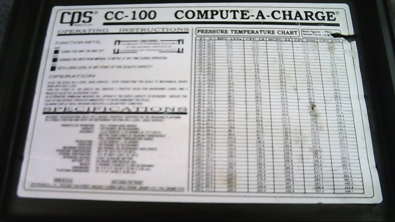 CPS CC-100 COMPUTE-A-CHARGE SCALE