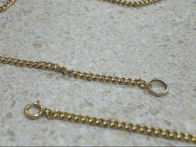 "30"" Gold Link Chain 14K Yellow Gold 14.1g"