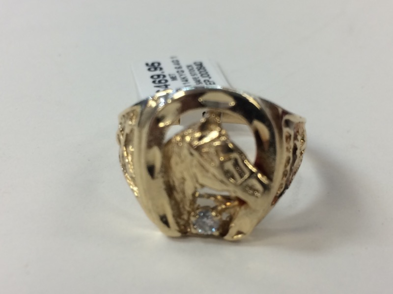 Gent's Diamond Fashion Ring .08 CT. 14K Yellow Gold 6.4g Size:10