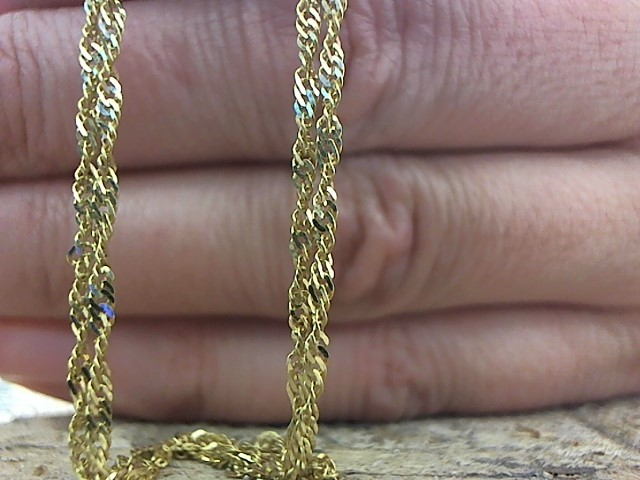 Gold Singapore Chain 18K Yellow Gold 3.4g