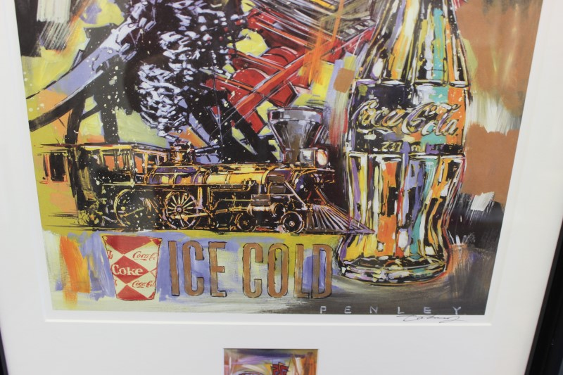 Steve Penley Coca Cola Framed Art 20 x 26-1/4
