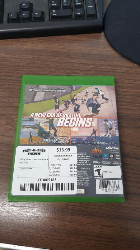 Tony Hawk's Pro Skater 5 (Microsoft Xbox One, 2015)