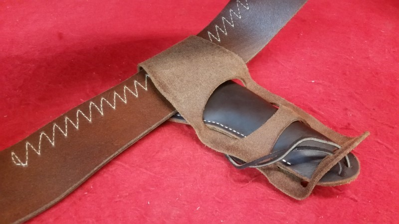 """Hunter Company Brown Leather Western Holster 34"""""""