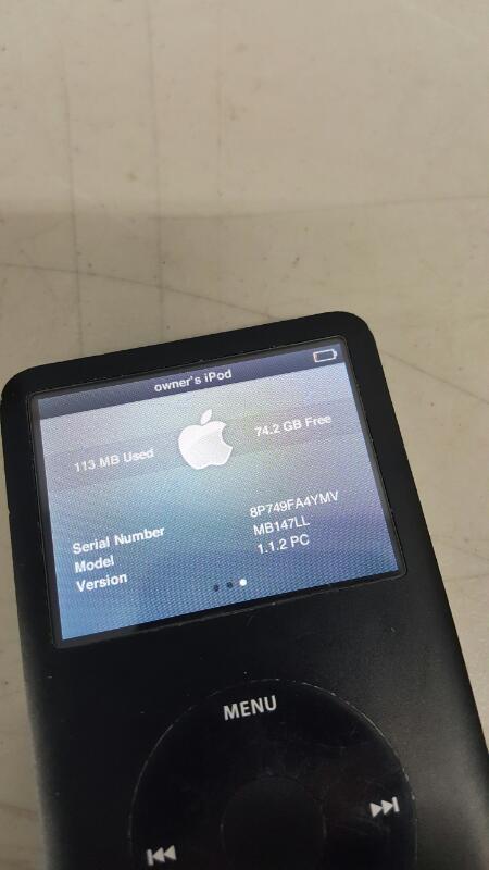 Apple iPod Classic 6th Generation Black (80 GB) MB147LL