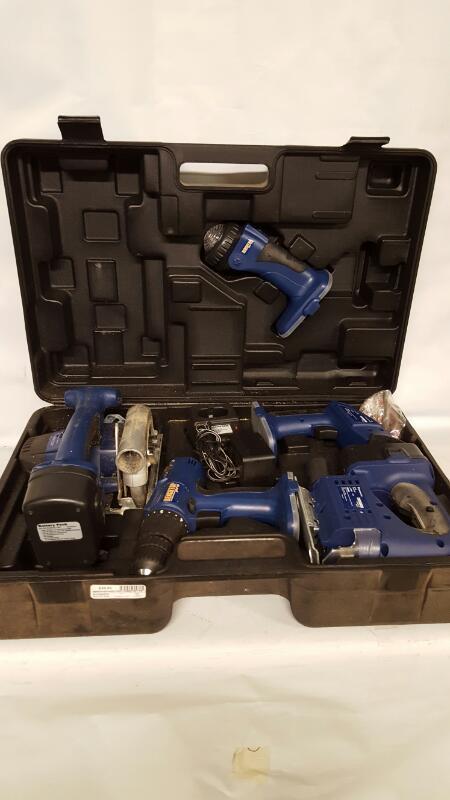 BENCHTOP Hand Tool COMBO SET CIRCULAR SAW JIG SAW SANDER DRILL 18VOLT