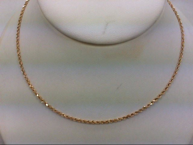"22"" Gold Rope Chain 14K Yellow Gold 3.1g"