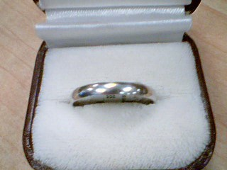 Gent's Gold Wedding Band 10K White Gold 1.8g Size:12