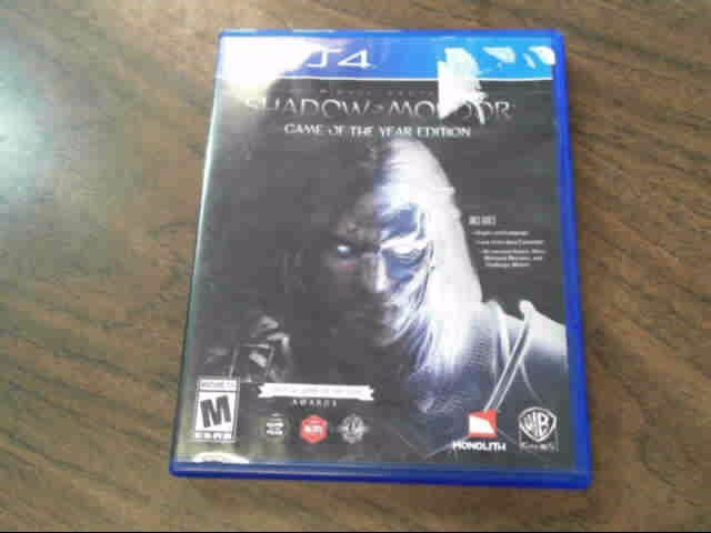 SONY Sony PlayStation 4 Game MIDDLE EARTH SHADOW OF MORDOR PS4