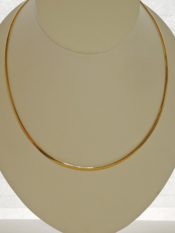 "18"" Gold Omega Chain 18K Yellow Gold 9.7g"