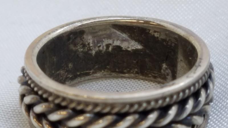 Lady's Silver Wedding Band 925 Silver 6.3g