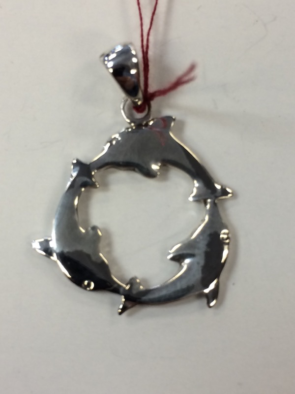 Silver Dolphins Pendant 925 Silver 2.4g
