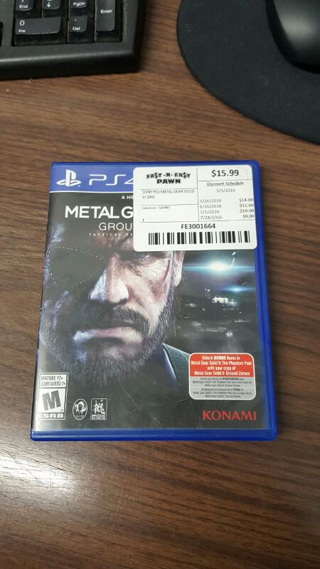 Metal Gear Solid V: Ground Zeroes (Sony PlayStation 4, 2014) PS4