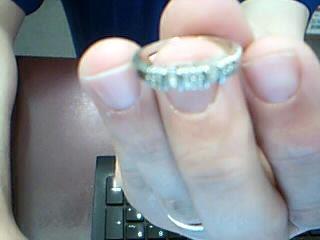 Lady's Gold-Diamond Anniversary Ring 16 Diamonds .48 Carat T.W. 14K White Gold