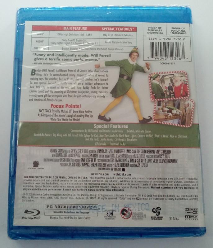 ELF, COMEDY BLU-RAY DVD MOVIE, STARRING WILL FERRELL