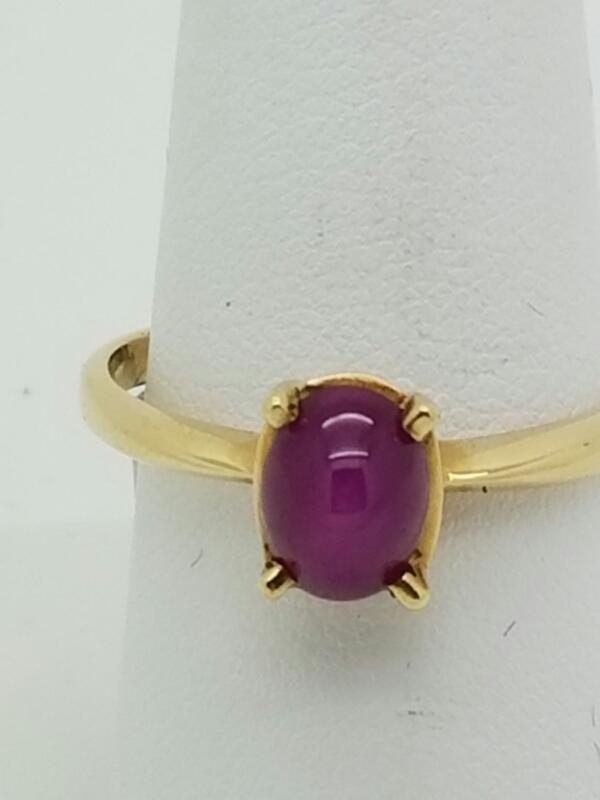 PURPLE STONE(S) Purple Stone Lady's Stone Ring 14K Yellow Gold 1.9dwt