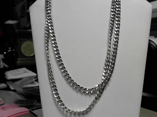 "44"" Sterling Silver Link Chain 57.2g"