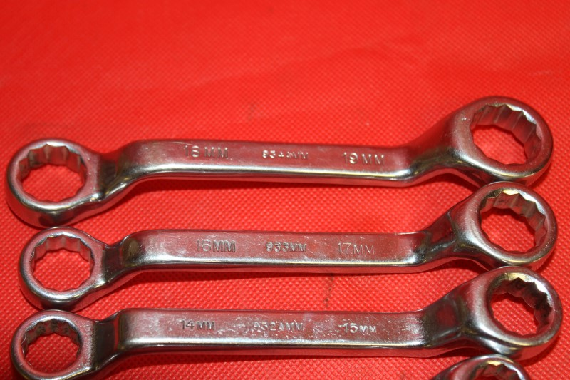 7 pc Duro/Indestro 12pt Offset Box Wrench Set: 19mm -8mm USA