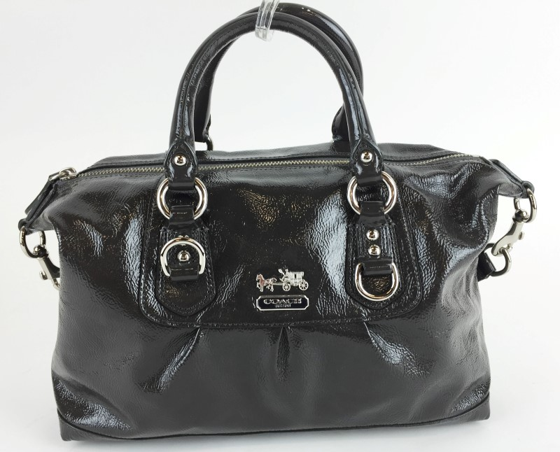 COACH MADISON PATENT LEATHER SHOULDER BAG 14178