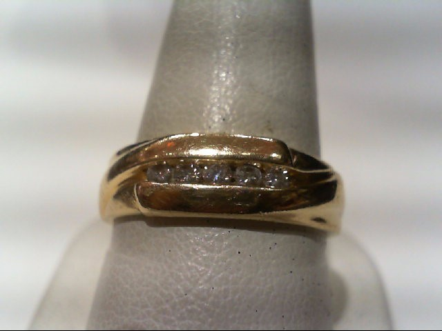 Gent's Diamond Fashion Ring 5 Diamonds .30 Carat T.W. 14K Yellow Gold 6.7g