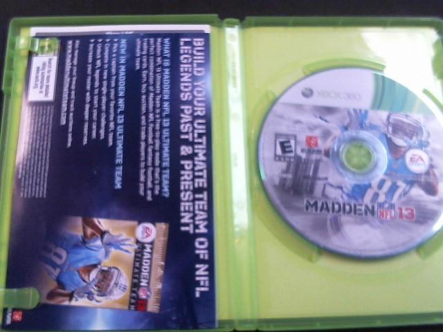 MICROSOFT Microsoft XBOX 360 Game MADDEN NFL 13 - XBOX 360