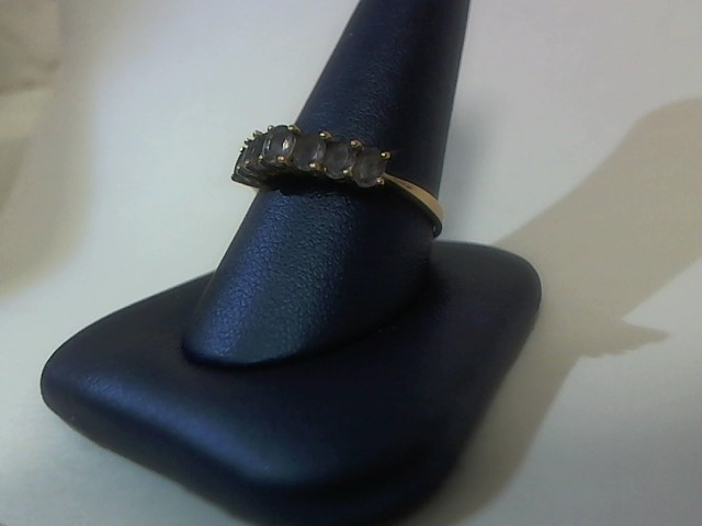 Purple Stone Lady's Stone Ring 14K Yellow Gold 2.2g Size:11
