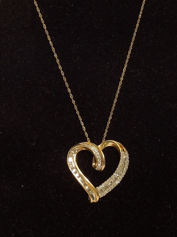 "18"" Diamond Necklace 78 Diamonds .78 Carat T.W. 10K Yellow Gold 3.2g"