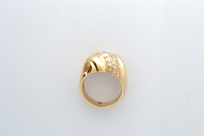 VINTAGE NATURAL DIAMOND RING SOLID 14K GOLD COCKTAIL STATEMENT 7.7g