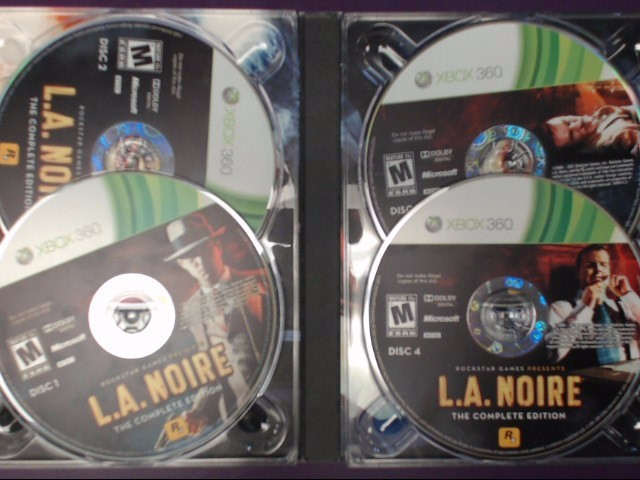 XBOX 360 GAME L.A. NOIRE (THE COMPLETE EDITION) DISC 1-4