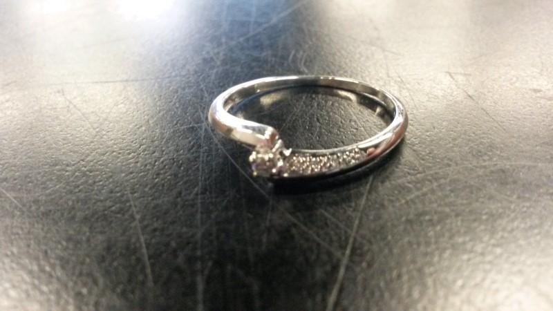 DIAMOND Lady's Diamond Engagement Ring 7 Diamonds .07 Carat T.W. 9K White Gold
