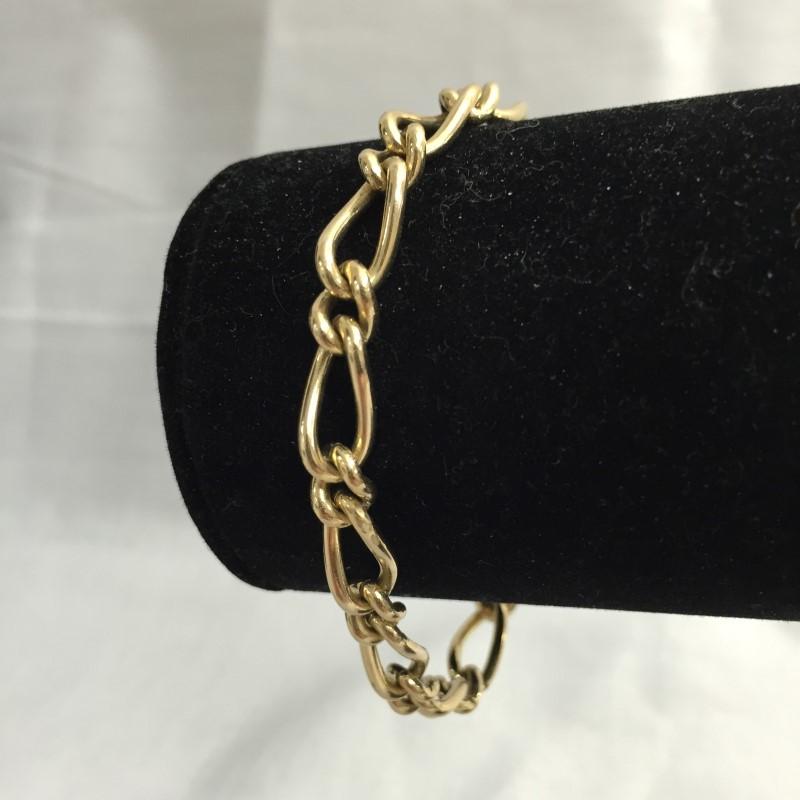 Gold Link Bracelet 9K Yellow Gold 11.1dwt