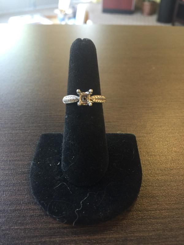 Lady's Platinum-Diamond Ring Mount 46 Diamonds .92 Carat T.W. 950 Platinum 7g