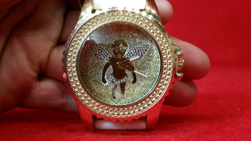 "Techno Pave Men's ""Baby Angel"" Watch"
