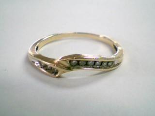 Lady's Diamond Wedding Band 9 Diamonds .18 Carat T.W. 10K Yellow Gold 1.3g