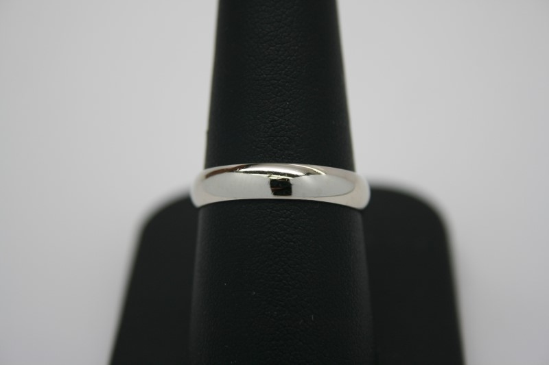 GENT'S WEDDING BAND 14K WHITE GOLD 8