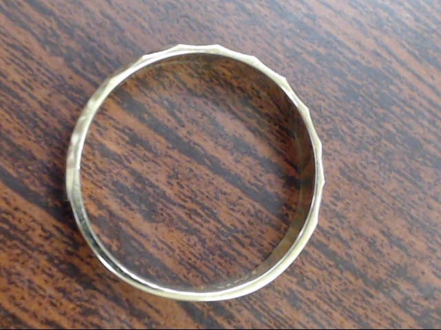 ESTATE DECO EDGE WED RING BAND SOLID REAL 14K GOLD MEN 5MM SZ 10.75