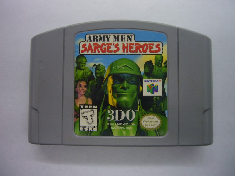 NINTENDO 64 Game ARMY MEN SARGES HEROS *CARTRIDGE ONLY*