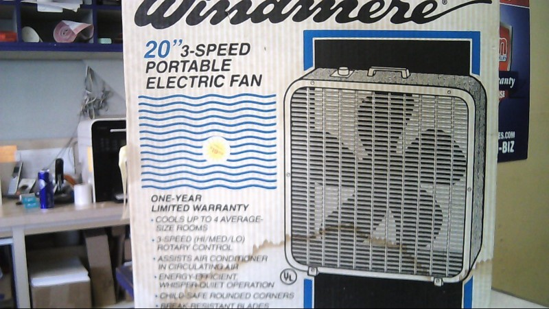 WINDMERE 3 speed box FAN bf-2000