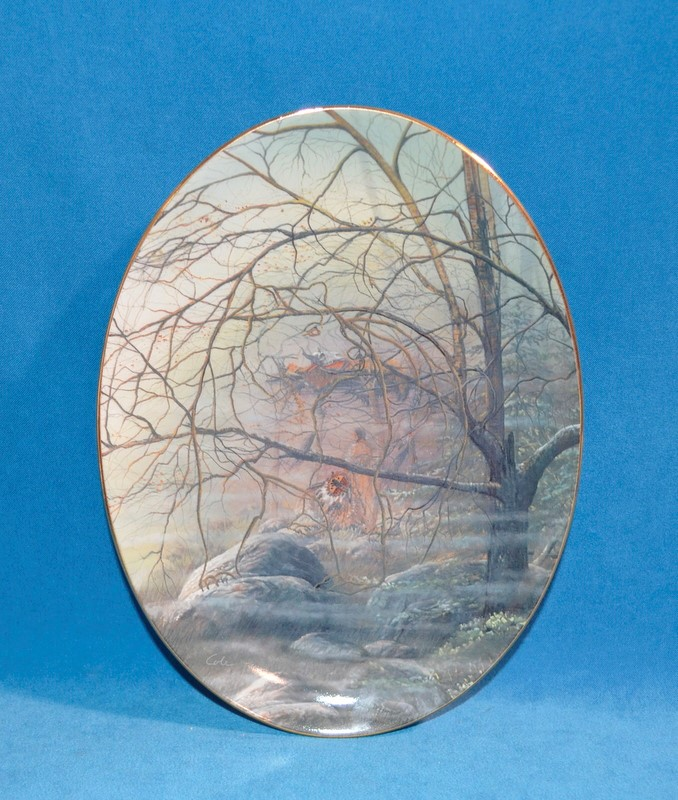 BRADFORD EXCHANGE Collectible Plate 2468A BRINGING THE SHIELD BY JULIE KRAMER